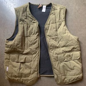 Vintage The North Face Hunter Green Quilted Vest M
